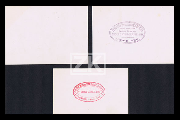 CABINE CINEMATOGRAPHIQUE Extincteur INCENDIE Cinéma RUEZ 5 Docs Invention 1910s  eBay