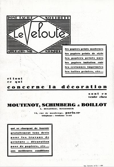 Art deco ameublement papier peint francis jourdain dufrene crevel karrer 1927 - Papier peint art deco ...